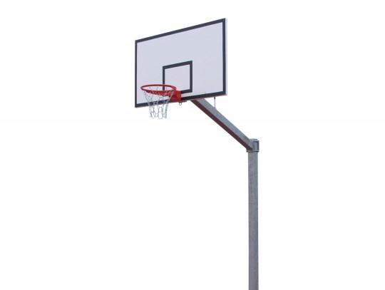 All-In Sport: Superstabiele deelbare constructie, vuurverzinkt (paal en overhang geschroefd). Te plaatsen in een ca. 50 cm lange, vuurverzinkte bodemhu...