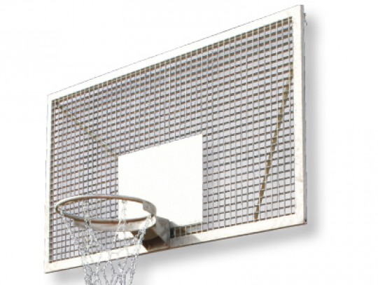 All-In Sport: Van speciaal, volledig gelast roosterbord. Bijzonder stil, omdat het trefvlak van de bal minimaal is. Vandalismebestendig.