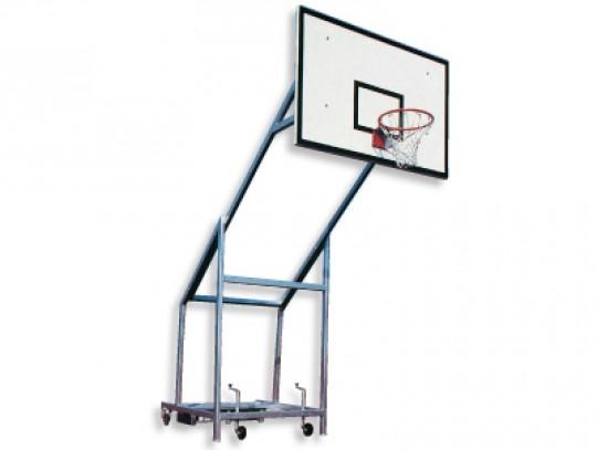 All-In Sport: 165 cm overhang, met 4 grote wielen, makkelijk te transporteren. Bord van GVK 120 x 180 cm, ring en net volgens DIN-voorschrift.