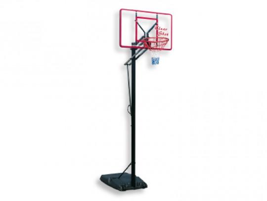 All-In Sport: Met bord 112 x 73 cm van acrylglas, neerklapbare Flexring van staal, in hoogte verstelbaar door eenvoudige bediening op 305, 275, 245 cm ...