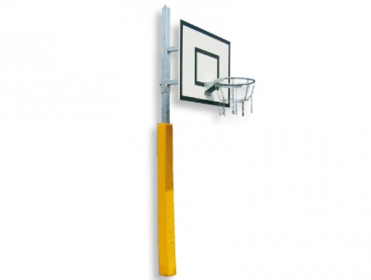 All-In Sport: verzinkt, in hoogte verstelbaar, 60 cm overhang, met GVK-waaierbord, verzinkte ring en kettingnet, incl. verzinkte bodemhuls (levering zo...