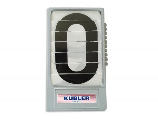 All-In Sport: los, instelbaar van 0-9. Cassettemaat 19 x 33,5 cm. Cijfers 24 cm hoog.