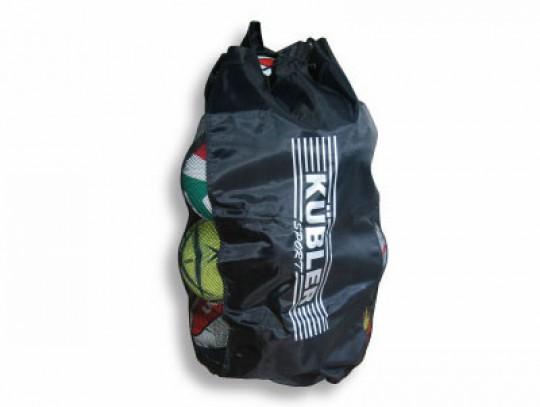 All-In Sport: Voor ca. 12 ballen maat 5. Van slijtvast speciaal materiaal (nylon/PU) met brede nylon draagriem en afsluittouw van dik polypropyleen.