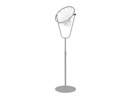 All-In Sport: In hoogte verstelbaar van 170 – 270 cm, bijzonder stabiel vanwege bodemplaat, 55 cm ringdoorsnede, met zwenkbare ring. Excl. net.