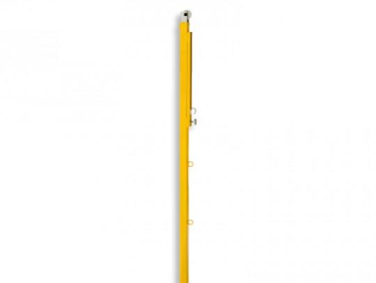 All-In Sport: De hoogte is telescopisch instelbaar van ca. 155 – 170 cm, met nethaken, katrol en glijhaken, voor bodemhulzen 40 x 40 mm.