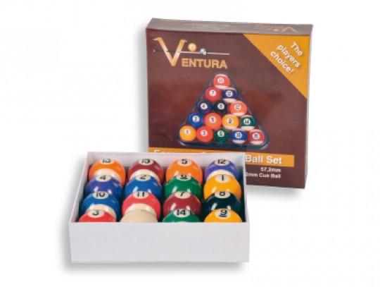 All-In Sport: Productkenmerken<br />- Hoogwaardige ballen van kunststof<br />- Set van 16 stuks<br />- Doorsnede 57,2 mm<br />- Gewicht: 170 gram per bal.
