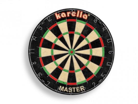All-In Sport: Het originele Karella Master dartboard bestaat uit miljoenen fijngeperste hoogwaardige Sisalvezels. Deze Sisalvezels hebben het voordeel,...