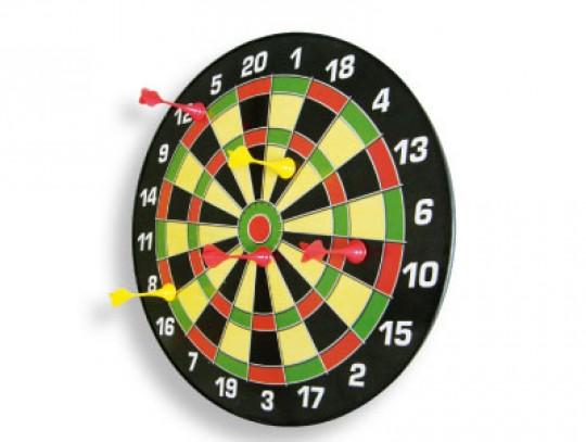All-In Sport: Met realistisch design. Geen blessuregevaar door de magnetische darts. Geschikt voor kinderen v.a. 5 jaar. Ø 45 cm, inclusief 6 darts.