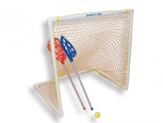 All-In Sport: Kunststof doel 120 x 120, 90 cm diep. Levering inclusief polyethyleen net. Simpelsteeksysteem.