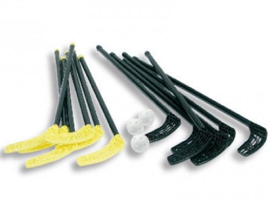 All-In Sport: Voor kinderen en jongeren, ideaal voor scholen en verenigingen. De sticks zijn van stabiel ABS-kunststof met rechte polyethyleen krullen....