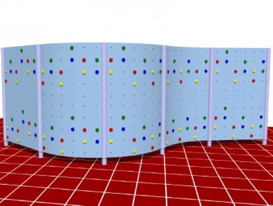 All-In Sport: Boulderwand aus Polymerbeton, mit hohem Aufforderungscharakter. Diese Anlage kann nahezu überall aufgestellt werden. Durch das modulare S...