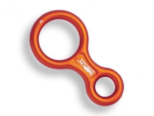 All-In Sport: Zekeringsartikel voor touwdoorsnede 9-11 mm. Geëloxeerd aluminium, oranje. Afmetingen (binnen-Ø van de ring): ca. 24 mm / ca. 49 mm. Breu...