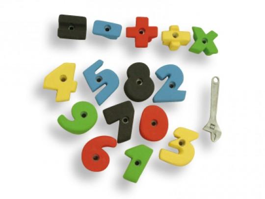 All-In Sport: Set met 15 stuks positief, goed te grijpen cijfer- en tekengrepen van 0 t/m 9. Extra +, x, =, - en gedeeld door als grepen. Daardoor kunn...