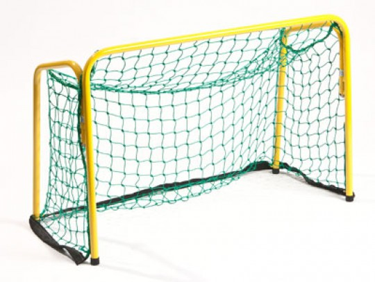 All-In Sport: <b>Unihockeydoel met net</b><br /><br />Stabiele hockeydoel van staken buizen constructie, verzinkt en epoxy gelakt, voor in- en outdoor ...