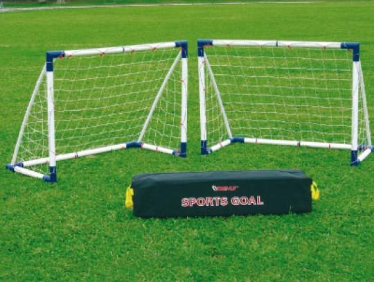 """All-In Sport: Al naar gelang de gebruiker kan met deze set een """"groot"""" doel of 2 """"kleine"""" doelen gespeeld worden! Bouwpakket voor 2 doelen 130 x 100 mm..."""