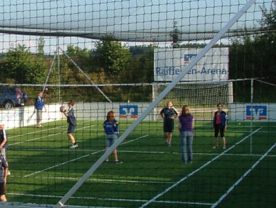 All-In Sport: De ideale aanvulling voor uw stationaire Outdoor Soccer Court! Van aluminium Compleet met net De installatie wordt aan de lange zijden ge...