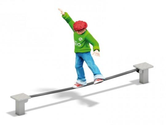 All-In Sport: Ideale oplossing voor b.v. het schoolplein of speelplaats. De Slackline palen en de rubber Slackline met interne verstevigingen zijn kant...
