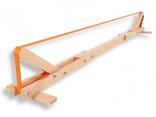 All-In Sport: Mobiele Slackline binnen een paar minuten op- en afgebouwd. Hout geeft de stabiliteit bij een gering gewicht van 11 kg. Lengte 240 cm, li...
