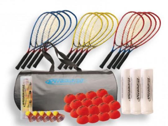 All-In Sport: Speedbadminton ist eine Racketsportart, bei der neuartige, speziell entwickelte Federbälle, die Speeder mit bemerkenswertem Drive gespi...
