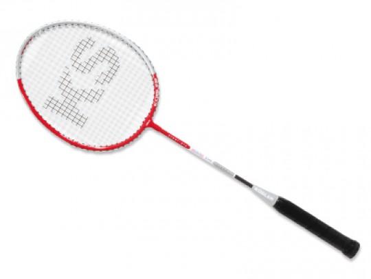 All-In Sport: Aluminium frame 9 mm, stalen-shaft 7 mm met versterkt T-stuk en Lawntex bespanning, ca. 100 gram, lengte 66 cm. Robuust racket voor de sc...