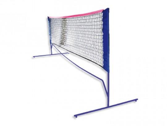 All-In Sport: Complete set met stokken en net. Supersnel opgebouwd in de tuin of op een parkeerplaats. Lengte 3 meter, in hoogte verstelbaar op 155 cm,...
