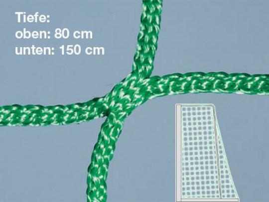 All-In Sport: Für Jugendtore 500 x 200 cm, Tiefe: oben 80 cm, unten 150 cm, hochfest. Superstarke Ausführung. Unsere gewirkten Tornetze halten, was sie...