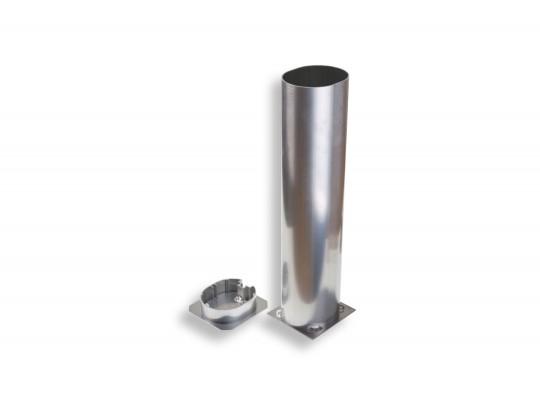 All-In Sport: Ovalprofil 120 x 100 mm aus Aluminium, Einstecktiefe 50 cm.