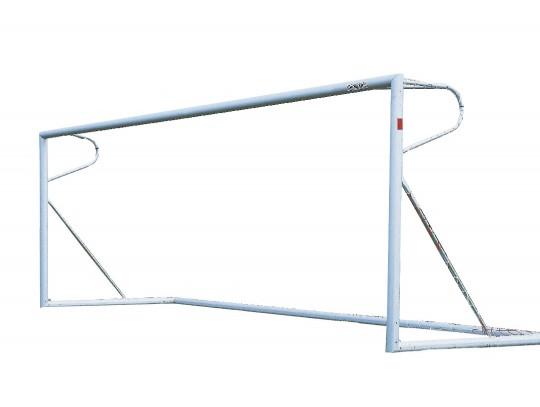 All-In Sport: Afm. 7,32 x 2,44 m. vrijstaand, superstabiel, met gelaste verstekken. Lat, palen en bodemframe van alu. ovaalprofiel 120 x 100 mm. Topkwa...