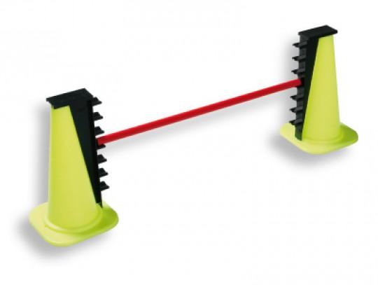 All-In Sport: 7-voudig in hoogte verstelbaar (van 10 tot 0 cm). Meegeleverd worden: 1 stok Ø 25 mm van breukvast niet-splinterend speciaal kunststof, 1...
