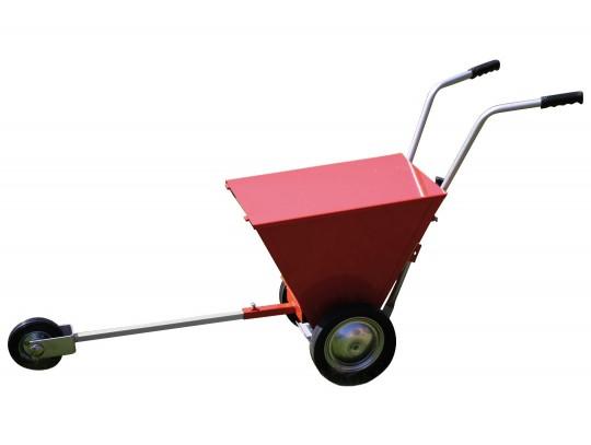 All-In Sport: Strooibreedte 12 cm, gleuf-strooiapparaat met ronde Perlon borstel, volrubber wielen en een navigatiewiel, gewicht ca. 17,5 kg. Voor drog...