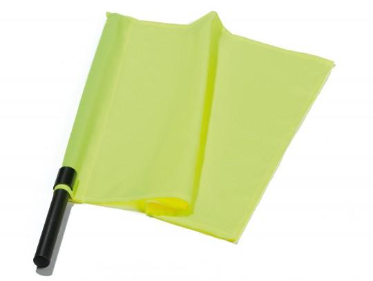 All-In Sport: Van fluoriserend stof, met lichte kunststof stok, ca. 30 x 40 cm.