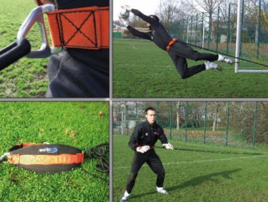 All-In Sport: <b>Keeperstrainer JUMP</b><br /><br />Dit nieuwe speciale trainingsartikel is ideaal ter ondersteuning van de training van de sprongkrach...