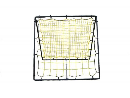 All-In Sport: Ideaal coördinatie- en trainingsartikel met 2 verschillende rebounders. 1 zijde met 5 x 5 cm mazen voor rechte rebound, 1 zijde met grove...