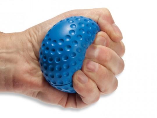 All-In Sport: PU-foambal met speciale toplaag in golfbaloptiek. Ideaal voor spelen, werpen, vangen of als handtrainer voor versterking van de hand, vin...