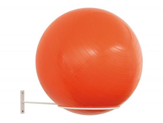 All-In Sport: De balhouder biedt plaats aan 1 gymnastiekbal met een maximale doorsnede van max. 85 cm. Levering incl. bevestigingsmateriaal voor de mon...