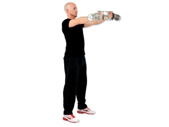 All-In Sport: De Complexhalter is ideaal voor de romp-, arm-, schouder- en de beentraining geschikt. De halterstang is met verschillende grepen uitgevo...