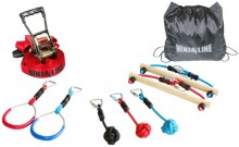 All-In Sport: 2 ringen, 3knopen en 2 stokken, 11 m lang, 5 cm breed, belasting 110 kg