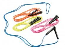 All-In Sport: Het coole touw voor de moderne vorm van touwtjespringen. <br />Sneldraaiend, in 4 neonkleuren (100% polichloride) met zwarte kunststof gr...