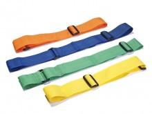 All-In Sport: 6 stuks in lengte verstelbare partijlinten van 84 cm tot 124 cm. Geschikt voor kinderen en volwassenen.<br />100% polypropyleen.