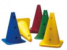 All-In Sport: 37 cm hoog, voorzien van 13 gaten, voor stokken Ø 25 mm.