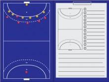 All-In Sport: De linkerzijde van het bord is als magnetisch coachbord te gebruiken en de rechterzijde als schrijfblok. Afmeting map: 35 x 47 cm (openge...