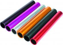 All-In Sport: <p>Aluminium estafettestokjes - Set van 6 kleuren</p> <p>Batons met ronde randen van lichtgewicht geanodiseerd aluminium. Officieel form...