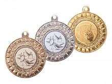 All-In Sport: Medialle met standaard embleem en bandkleur naar keuze. Kleuren: goud, zilver en brons leverbaar. De gewenste kleur van de medaille, en d...