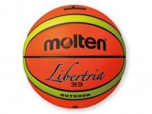 All-In Sport: Outdoor basketbal van synthetisch leder met zeer goede speeleigenschappen. Attractief kleurdesign neonoranje/neongeel voor zeer goede zic...