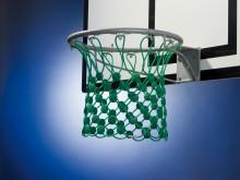 All-In Sport: Vandalismebestendig en geluidsarm, van 5 mm sterk Herculeskoord, snij- en scheurvast. Geschikt voor alle standaard basketbalringen. Kleur...