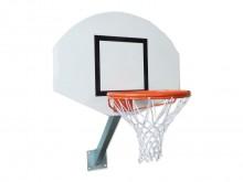 All-In Sport: Vuurverzinkt en weerbestendig, bestaande uit: basketbalbord van GVK 120 x 68 cm, basketbalring STANDAARD, oranje epoxy gelakt, basketbaln...