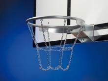All-In Sport: met 8-punts-bevestiging, van zwaar ketting, verzinkt, geschikt voor alle standaard basketbalringen.