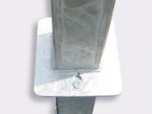All-In Sport: Vastgelast aan basketbalunit, te bevestigen aan een ingebouwde bodemhuls met uitneembeveiligings-inrichting (diefstalveilig), voor units ...