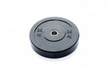 All-In Sport: <p>Ol. Zwarte Bumper Plate 25 kg:</p> <p>&nbsp;</p> <p>Vervaardigd uit massief rubber. Hierdoor zijn deze hoge kwalitatieve schijven ui...
