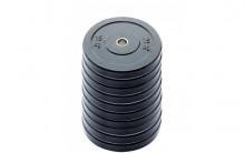 All-In Sport: <p>10-pack 15 kg Ol. Bumper Plates zwart</p> <p></p> <p>Olymische Bumper plates vervaardigd uit massief rubber. Hierdoor zi...